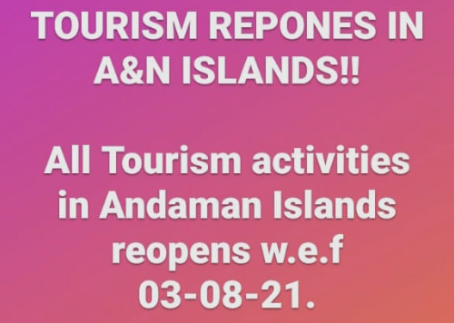 Announcement: Andaman Opens For Tourism From 03 August - SOP's regarding COVID-19 testing for tourists coming to Andaman